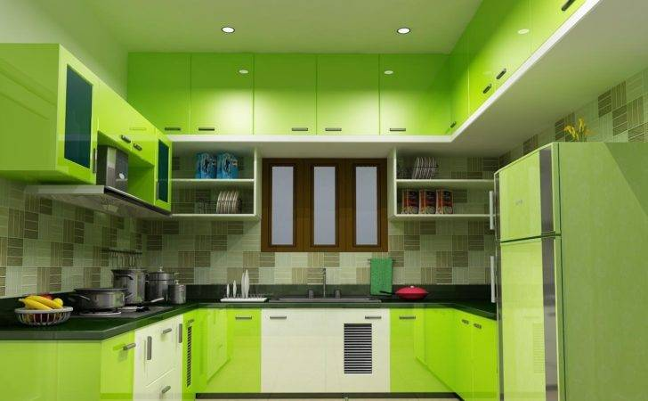 Black White Green Kitchen