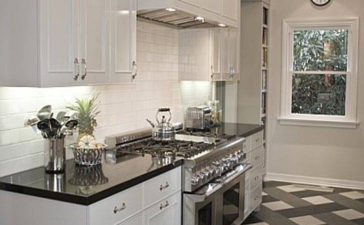 Black White Kitchen Floor Cabinets