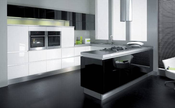 Black White Kitchen Retro Theme Nixgear