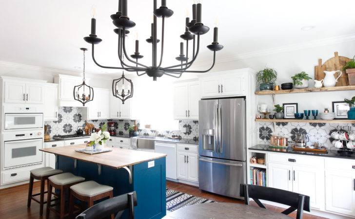Black White Kitchen Reveal Deeplysouthernhome