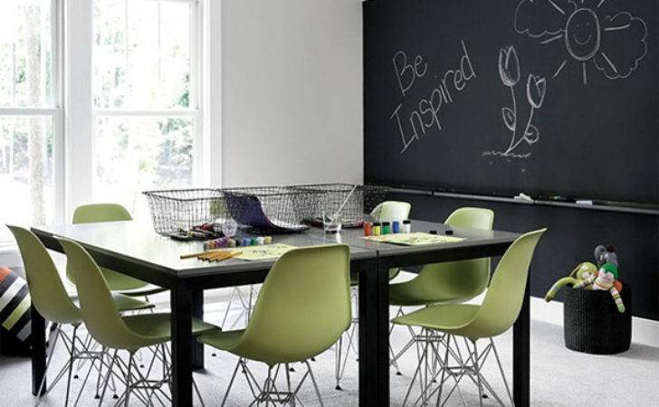 Blackboard Dining Room Decorating Ideas Desired Home