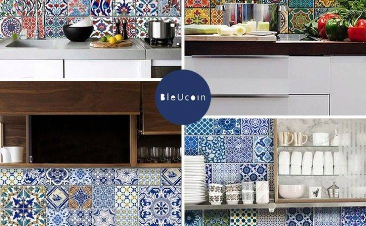 Bleucoin Temporary Tile Decals Traditional Turkish