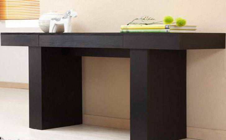 Bloombety Black Modern Console Table Ikea