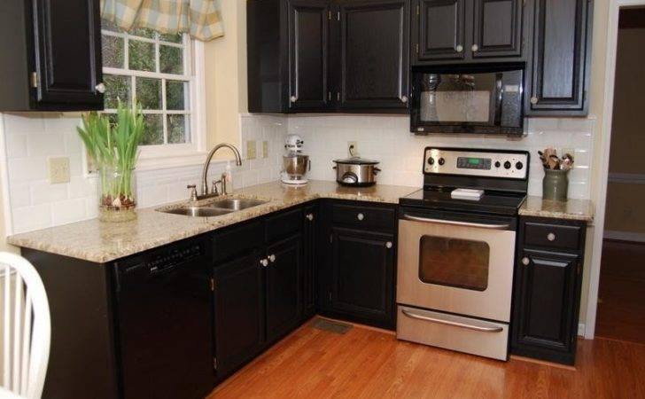Bloombety Black Paint Color Kitchen Cabinets