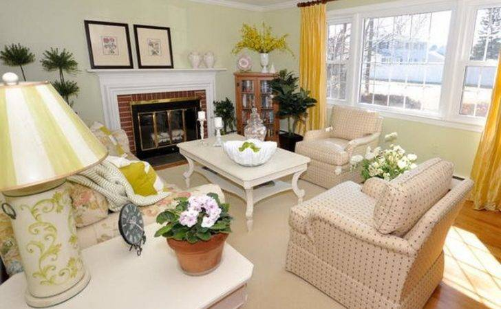 Bloombety Modern Design Cottage Style Living Room