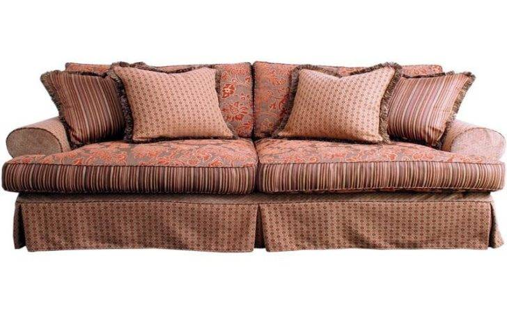 Bloombety Slip Covered Country Style Sofas