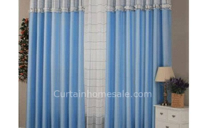 Blue Bedroom Curtains Real Estate