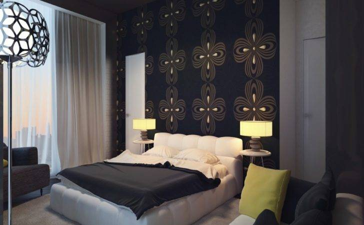 Blue Bedroom Wall Feature Ideas Master