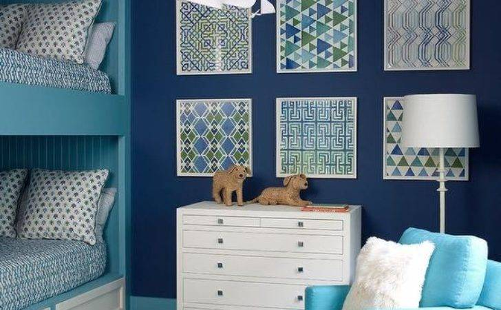 Blue Boys Bedroom Turquoise Shiplap Bunk Bed