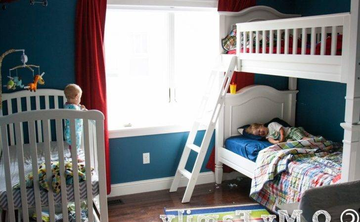 Blue Colors Wooden Wardrobe Toddler Boy Bedroom Themes