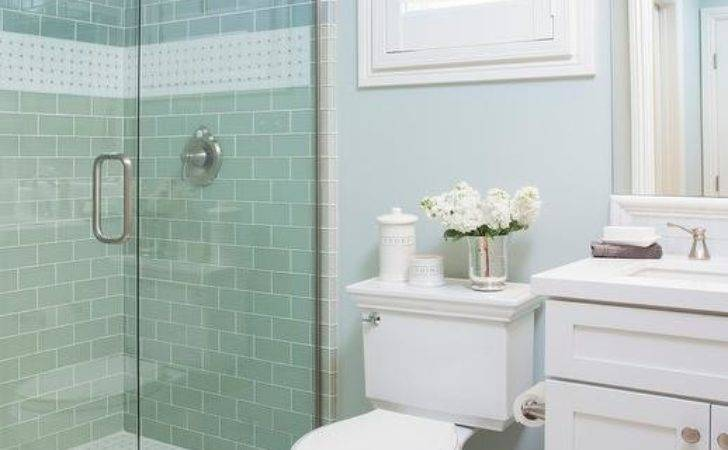 Blue Cottage Bathroom Subway Shower Tiles