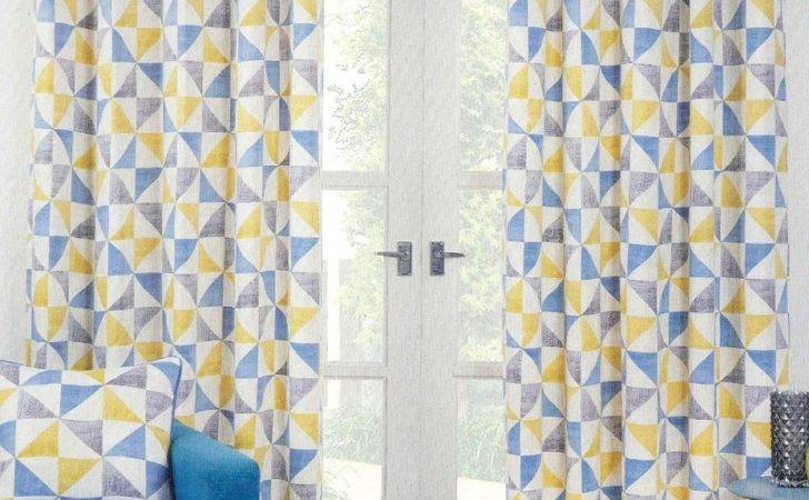 Blue Curtain Curtains Yellow Unbelievable Indie Ready