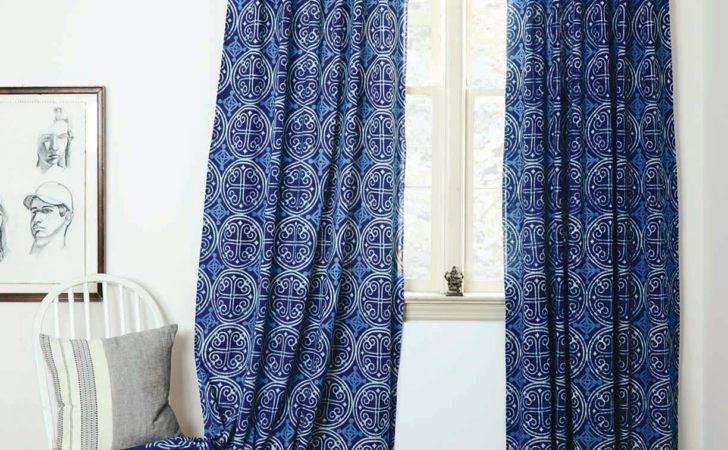Blue Curtains Bedroom White