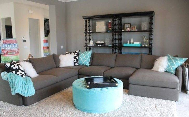 Blue Gray Living Room Sea Themed Guest