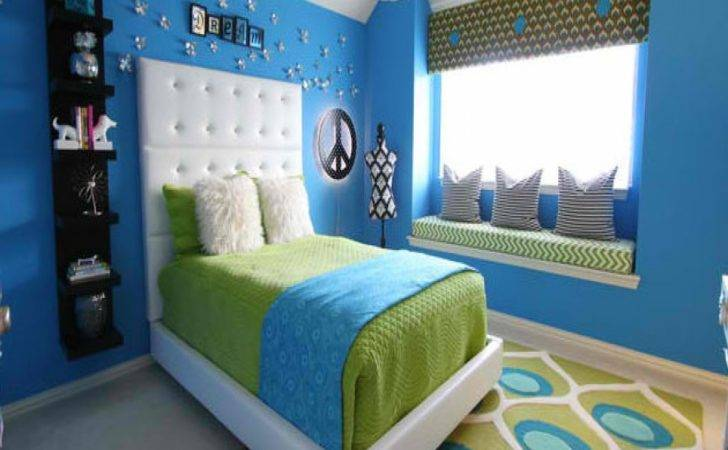 Blue Green Bedrooms Lime Pink