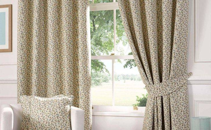 Blue Laurel Ready Made Lined Curtains Delivery