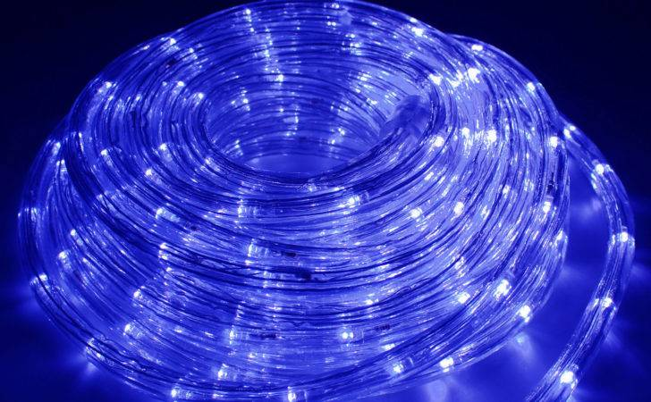 Blue Led Rope Lights Outdoor Tree Garden