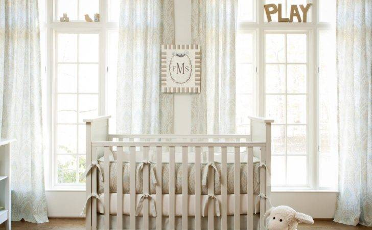 Blue Taupe Paisley Crib Bedding Neutral Baby