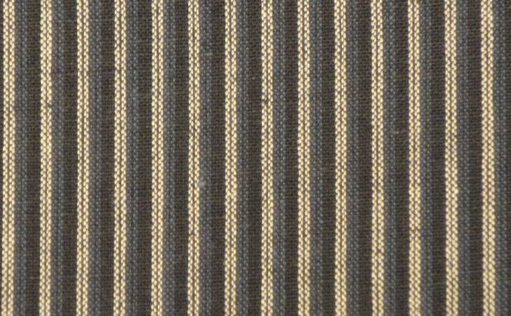 Blue Ticking Stripe Fabric Cotton Homespun
