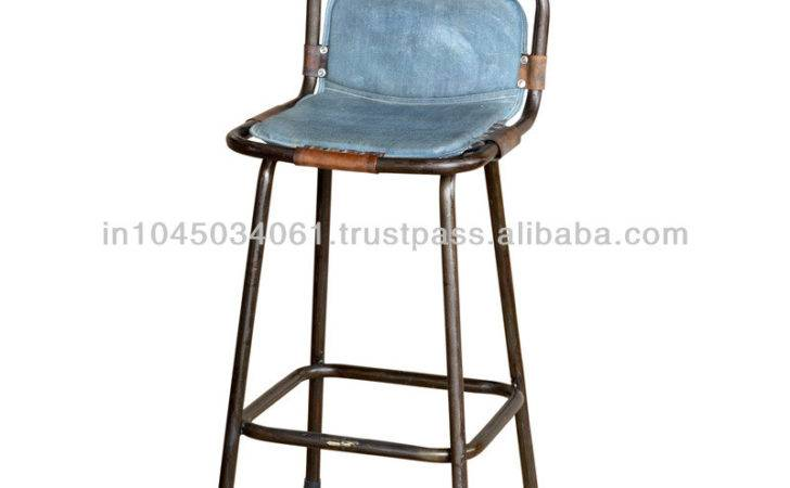Blue Vintage Bar Stools