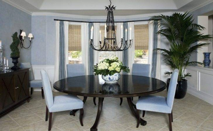 Blue White Dining Room Los Angeles