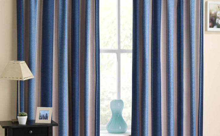 Blue White Striped Curtains Ready Made Curtain