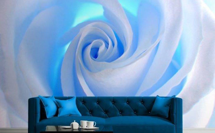 Blue White Wall Mural Allwallpapers