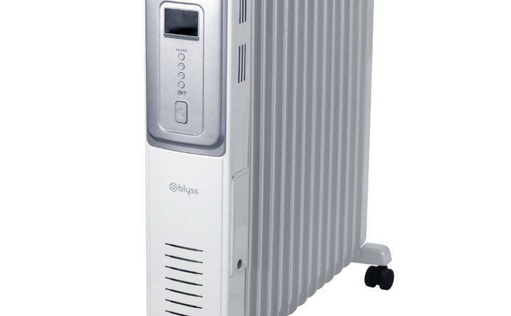 Blyss Electric White Silver Oil Filled Radiator