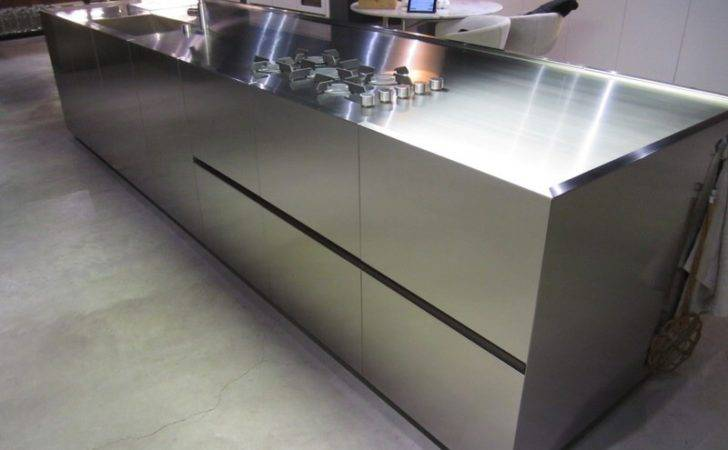 Boffi Stainless Steel Handleless Island Display