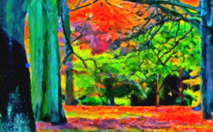 Bold Colors Autumn Painting