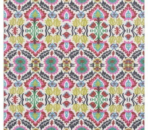 Bold Floral Pattern Style Fabric Zazzle