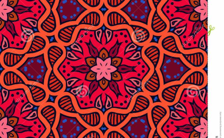 Bold Pattern Indian Motifs Vector