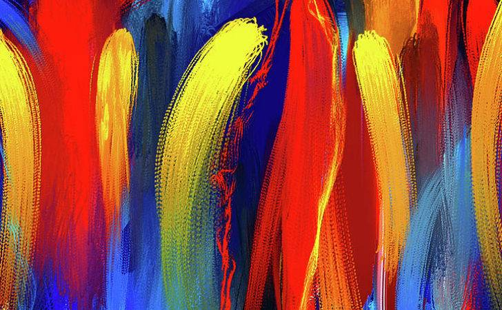 Bold Primary Colors Abstract Art Painting Lourry