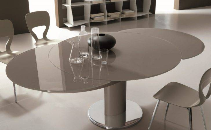 Bontempi Giro Round Extending Dining Table