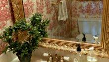 Book Bound Pride Prejudice Toile Powder Room