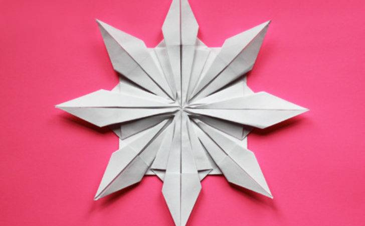 Book Paper Snowflake Star Instructions