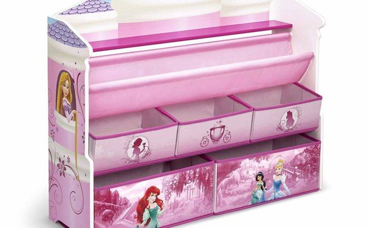 Book Toy Storage Organizer Disney Princess Kids Girls Room