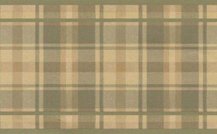 Border Traditional Tartan Plaid Tan Green Ebay