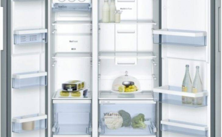 Bosch Freestanding American Style Fridge Freezer