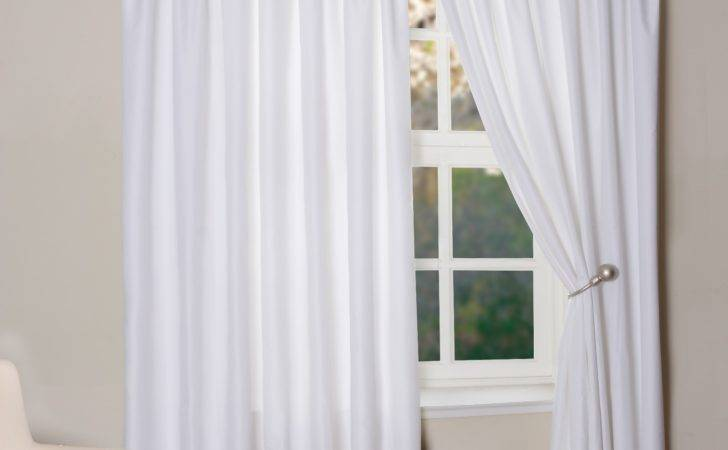 Brave Double Slice White Curtains Windows Added