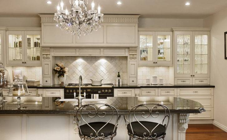 Bright Kitchen Interior Feat Antique White