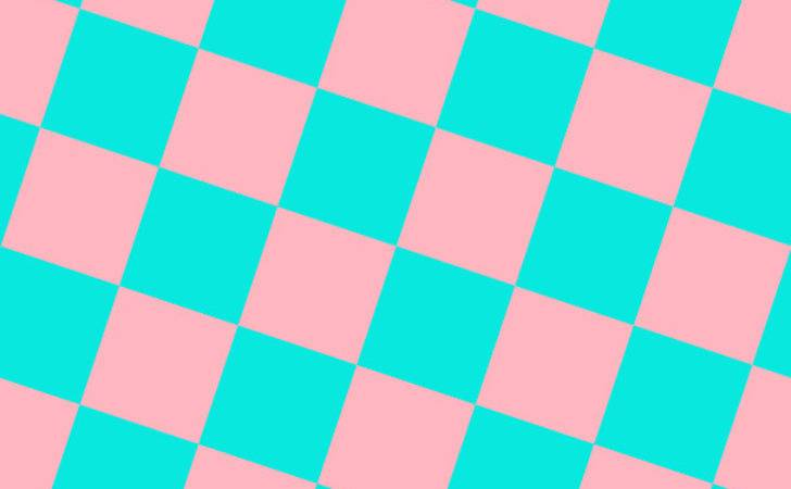Bright Turquoise Light Pink Checkers Chequered