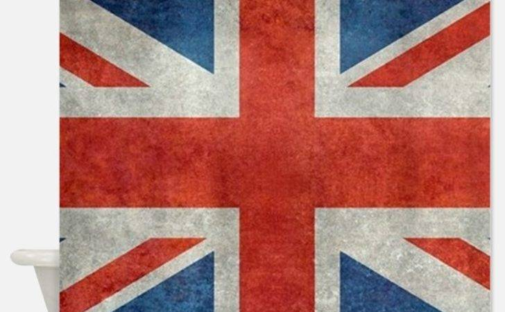 British Flag Shower Curtains Fabric