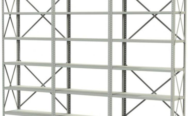 British Standard Braced Steel Bolted Triple Shelving System