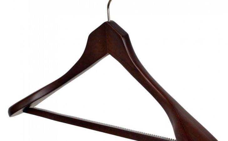 Broad Shaped Wooden Suit Hangers Box