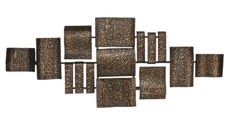 Bronze Squares Contemporary Metal Wall Art Sculpture