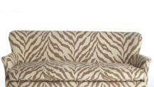 Brown Ivory Zebra Print Sofa