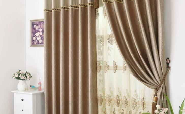 Brown Patterned Curtains Delicate