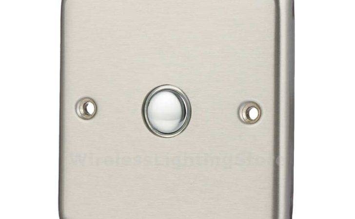 Brushed Stainless Steel Remote Dimmer Light Switch