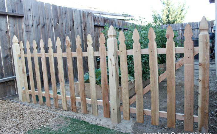 Build Easy Diy Garden Fence Pencil